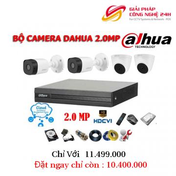 Trọn bộ gói combo 8 Camera dahua giá rẻ 2Mp Mới nhất