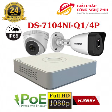 Trọn bộ 4 camera IP 2Mp