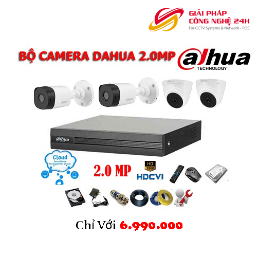 Trọn bộ gói combo 4 Camera Dahua DSS 2Mp Mới nhất